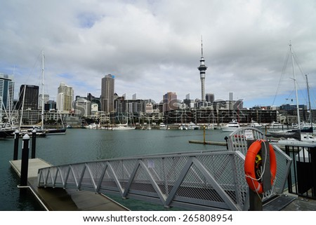 Auckland urban landscape and city skyline at Auckland New Zealand  - stock photo