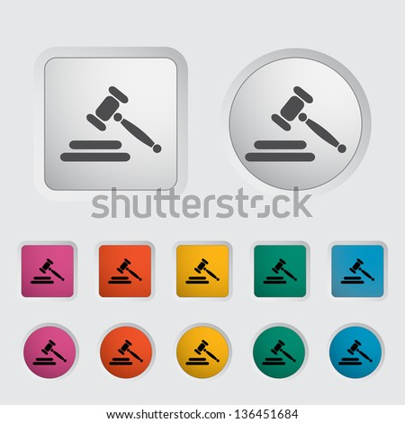 Auction gavel icon. Vector version also available in my portfolio. - stock photo