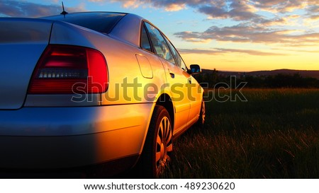 Audi A Sunset Stock Photo Royalty Free Shutterstock - Sunset audi