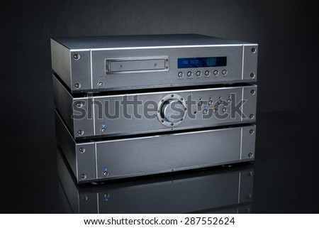 audio Amplifier - stock photo
