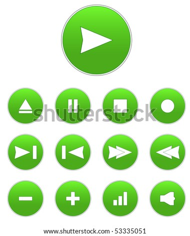 audio buttons - stock photo