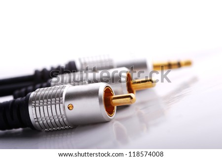 Audio cables - stock photo