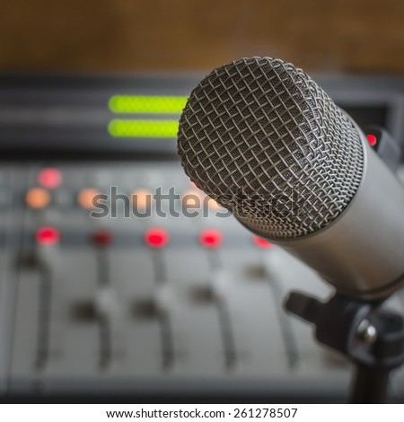 audio console and microphone