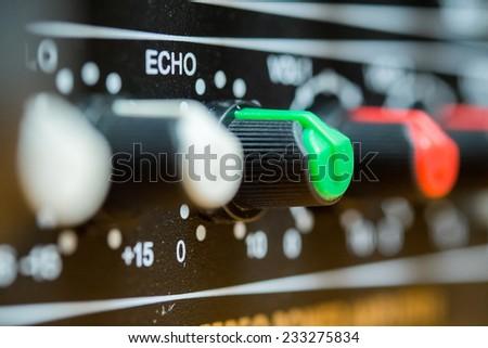 Audio echo button - stock photo
