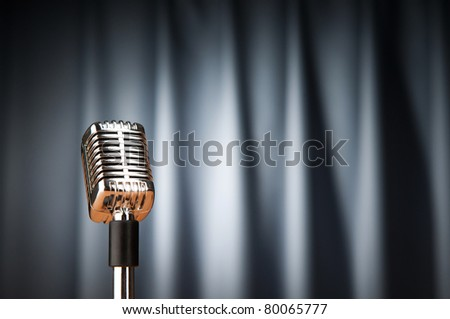 Audio microphone against the background