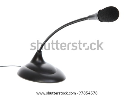 audio microphone isolated on white background