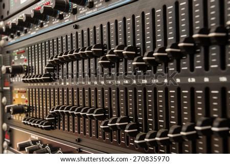 Audio Mix - stock photo
