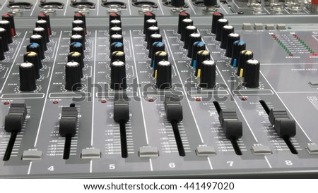 audio mixer control