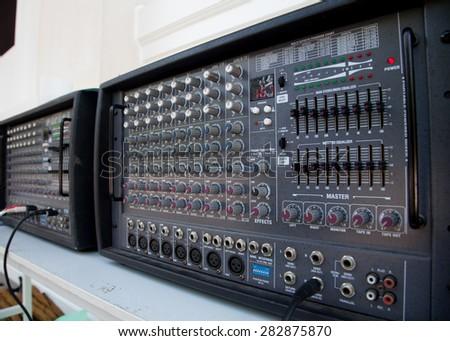 audio panel - stock photo