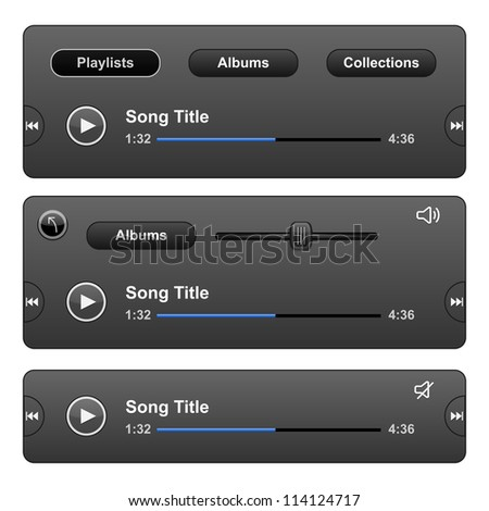 Audio Player Skin with play button