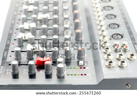 audio Sound mini mixer 6 channel , red fader ahead
