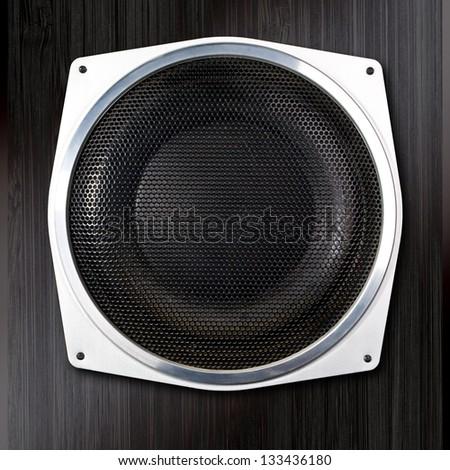 audio speaker close up - stock photo