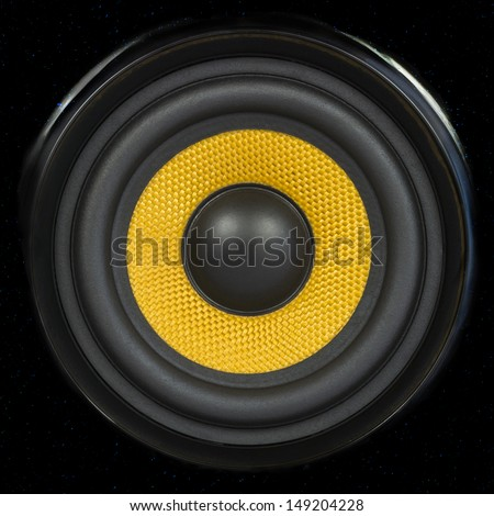 Audio Speaker Cone Detail Background Photo (can be used for seamless pattern) - stock photo