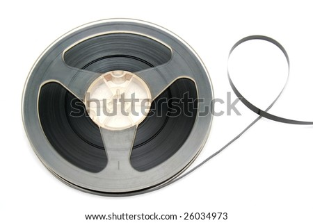 Audio tape isolated on white.