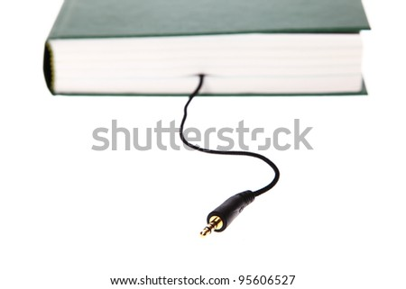 audiobook book jack isolated on white