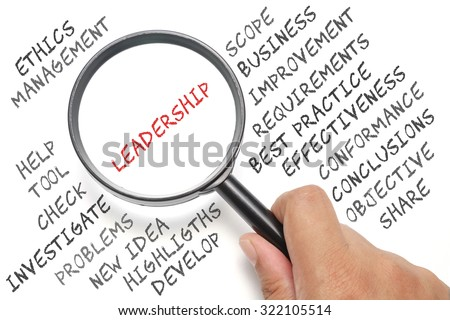 Audit, business conceptual focusing on Leadership - stock photo