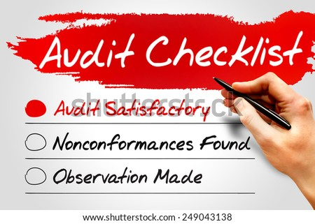 Audit Checklist, business concept - stock photo