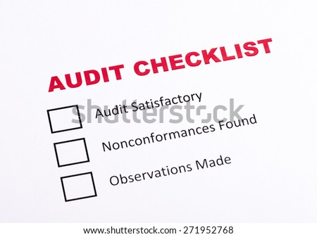 Audit checklist  evaluation - stock photo