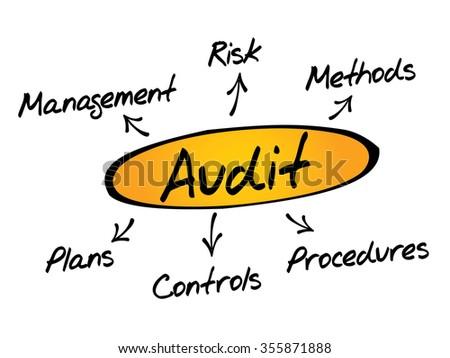Audit diagram process, business concept - stock photo