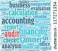 Audit info-text graphics and arrangement concept (word cloud) in white background - stock photo