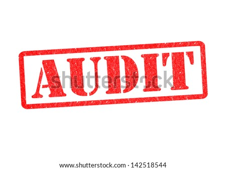 AUDIT Rubber Stamp over a white background.