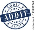 audit stamp - stock photo