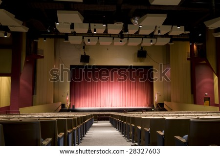 Auditorium with Red Stage