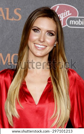 Audrina Patridge at the Los Angeles premiere of 'Immortals 3D' held at the Nokia Theatre L.A. Live in Los Angeles on November 7, 2011.
