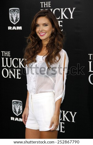 "Audrina Patridge at the Los Angeles Premiere of ""The Lucky One"" held at the Grauman's Chinese Theater, California, United States on April 16, 2012."