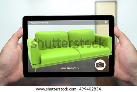 Augmented Reality Marketing Technology Concept Hand Stock Photo 501129262 Shutterstock
