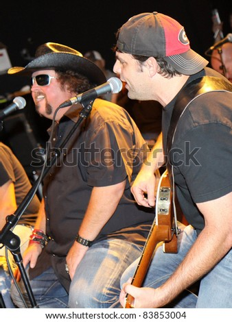 "August 16, 2011 - Athens, GA - Colt Ford and Rhett Akins. At a benefit for the family of Elmer ""Buddy"" Christian."