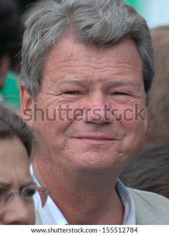 AUGUST 1, 2005 - BERLIN: Wolfgang Wieland at an election rally of the Green Party in Berlin.