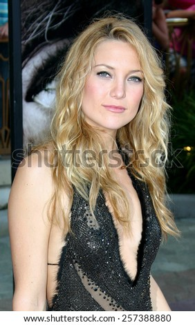 "August 2, 2005. Kate Hudson attends at the ""The Skeleton Key"" Los Angeles Premiere at the Universal Studios Cinema in Hollywood, California .  - stock photo"
