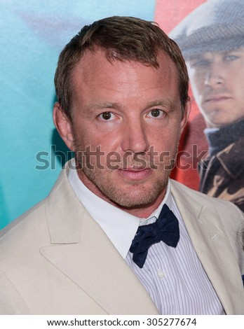 """August 10, 2015, New York, New York, USA - Guy Ritchie attends the New York City premiere of """"The Man From U.N.C.L.E."""" at the Ziegfeld Theater - stock photo"""