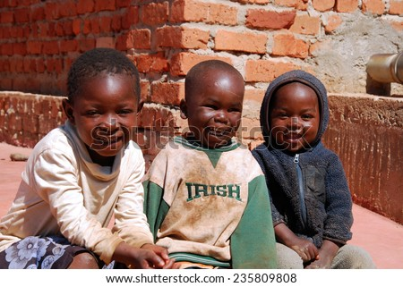 August 1, 2014-Pomerini-Tanzania-Africa-The fun of African children the help and support from the Franciscan Mission of Pomerini, a country where people die for HIV-AIDS, tuberculosis and malaria