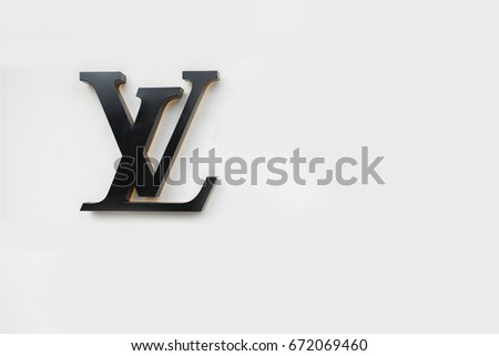 AUGUST 2016 - SEOUL,KOREA: the logo of the brand Louis Vuitton SEOUL, KOREA.
