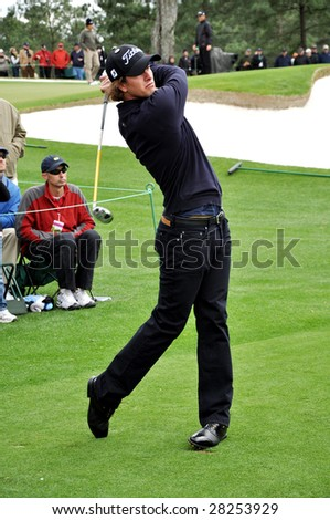 AUGUSTA, GA - APR 7: Adam Scott at 2009 Masters golf tournament in Augusta, GA on April 7, 2009. - stock photo