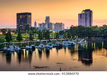 Augusta, Georgia, USA downtown skyline. - stock photo