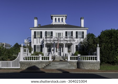 AUGUSTA, MAINE - JULY 31: Blaine House, or the official residency of the Governor, at 192 State Street on July 31, 2015 in Augusta, Maine