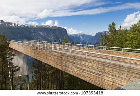 Aurland - Stegastein viewpoint Norway - stock photo