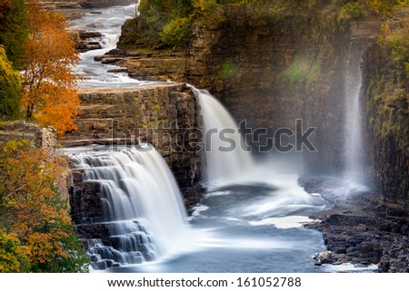 Ausable Chasm Waterfall, Adirondack mountains, Upstate New York - stock photo