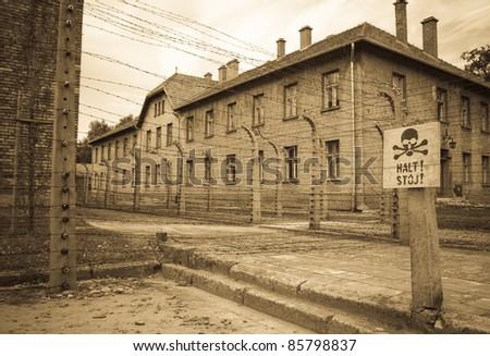 Auschwitz - stock photo