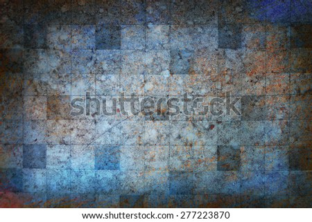 Austere dark blue background chessboard gradient colors - stock photo