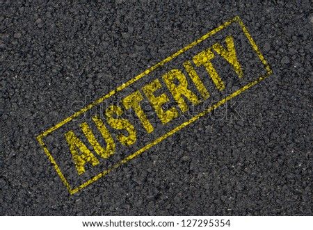 Austerity stamp background