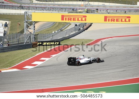 AUSTIN - OCTOBER 22:  Valtteri Bottas of Williams Martini Racing races in the qualifiers at The Circuit of the Americas on October 22, 2016 in Austin, Texas.