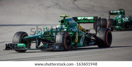 AUSTIN, TEXAS - NOVEMBER 17.Giedo Van Der Garde of Team Caterham during the  Formula 1 United States Grand Prix on November 17, 2013 in Austin, Texas - stock photo