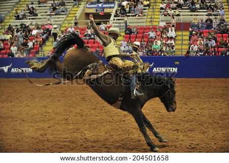 Austin, Texas, USA, March. 23, 2012: Rodeo Austin, one of America's premier rodeo event, featuring Pro Rodeo, Austin, started in 1938, Austin, Texas - stock photo