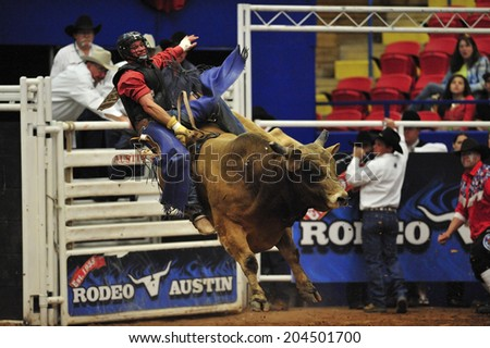 Austin, Texas, USA, March. 23, 2012: Rodeo Austin, one of America's premier rodeo event, featuring Pro Rodeo, Austin, started in 1938, Austin, Texas