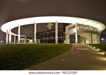 AUSTIN, TX - MAR 12: SXSW Interactive Conference on March 12, 2012 in Austin. Long Center at night