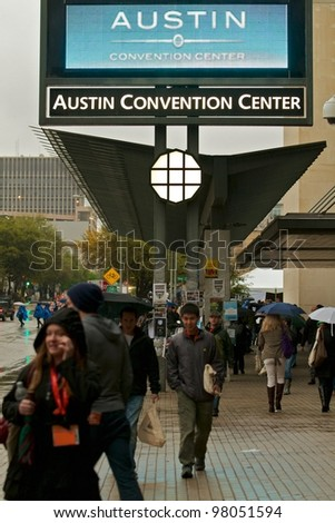 AUSTIN, TX - MAR 9: SXSWi 2012. SXSW Interactive Conference on March 9, 2012 in Austin, Texas. Austin Convention Center - stock photo